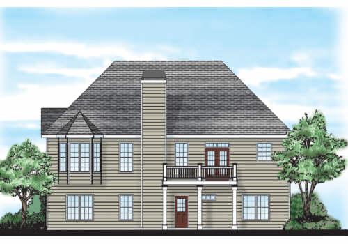 Laurel Springs House Plan Rear Elevation