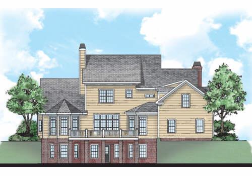 Northfield House Plan Rear Elevation