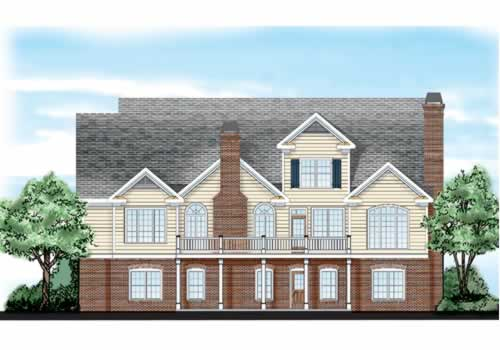 Homestead House Plan Rear Elevation