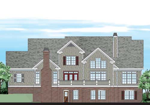 Nottaway House Plan Rear Elevation