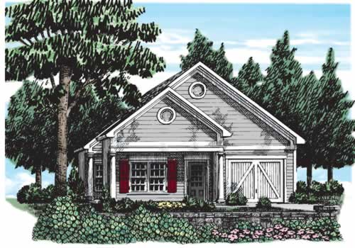 Oak Park House Plan Elevation