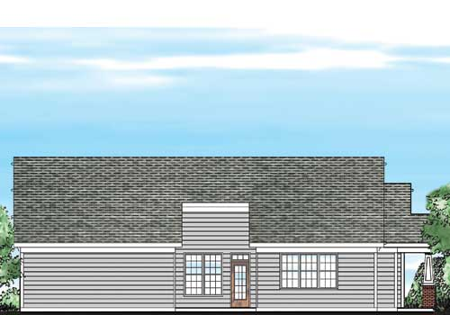 Peyton House Plan Rear Elevation