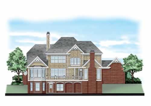 Wedgewood House Plan Rear Elevation