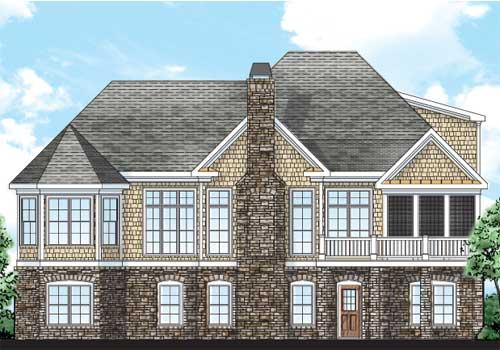 Berkeley Heights House Plan Rear Elevation