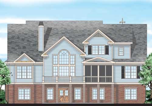Mcpherson Place House Plan Rear Elevation