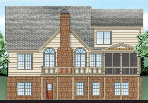 Azalea Park House Plan Rear Elevation