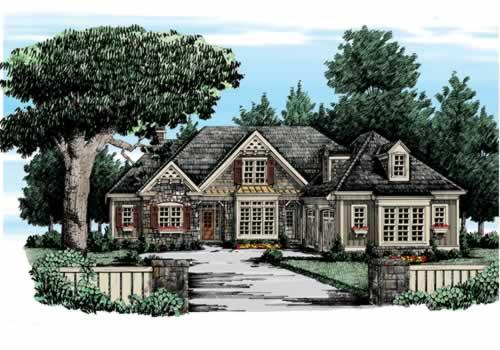 Colemans Bluff House Plan Elevation