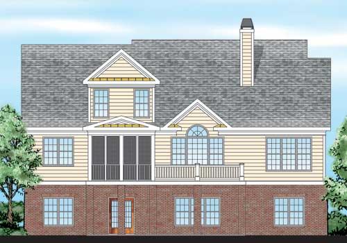 Macallen House Plan Rear Elevation
