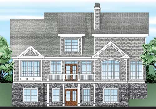 Riverton House Plan Rear Elevation