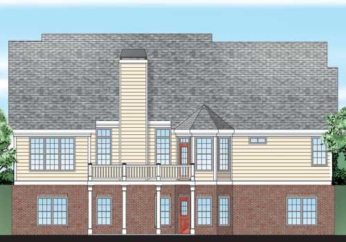 Gramercy House Plan Rear Elevation