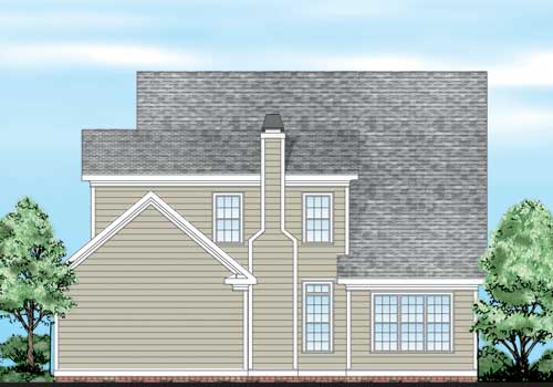 Brownsville House Plan Rear Elevation