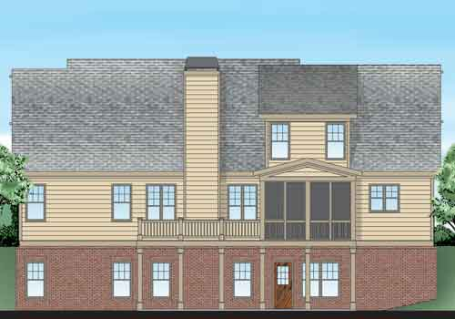 Altamonte House Plan Rear Elevation