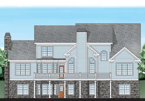 Providence Place House Plan Rear Elevation