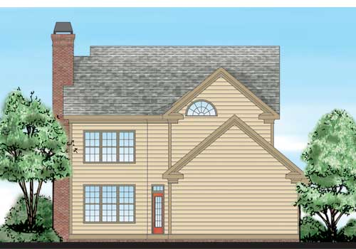 Creekmore House Plan Rear Elevation