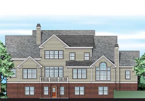Keheley Pointe House Plan Rear Elevation