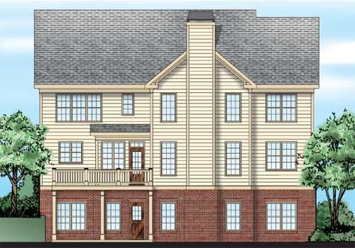 Sugar Hill House Plan Rear Elevation