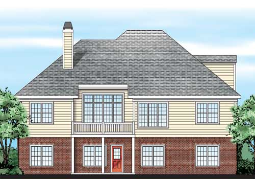 Bagwell Place House Plan Rear Elevation