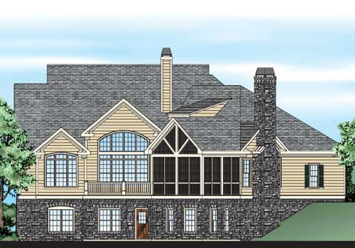 Kingsmill House Plan Rear Elevation