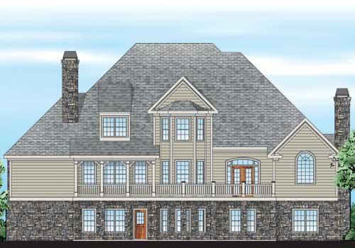 Hearthstone House Plan Rear Elevation