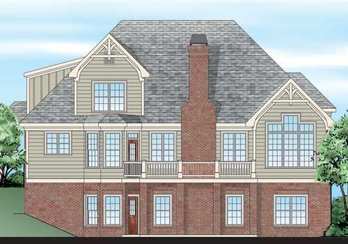 Hedgerow House Plan Rear Elevation