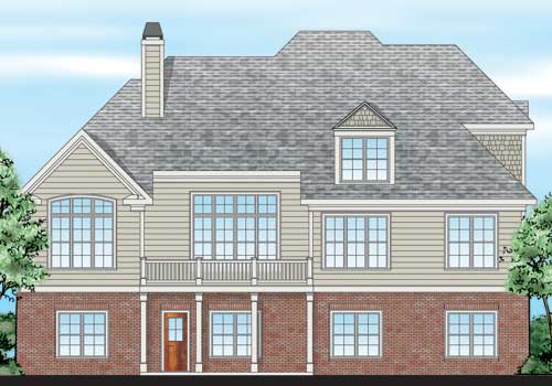 Heritage Pointe House Plan Rear Elevation