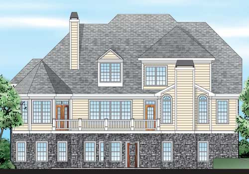 Sterling Heights House Plan Rear Elevation