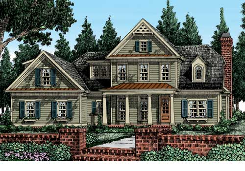 Autrey Mill House Plan Elevation