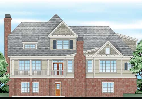 Autrey Mill House Plan Rear Elevation