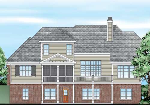 Blenheim House Plan Rear Elevation
