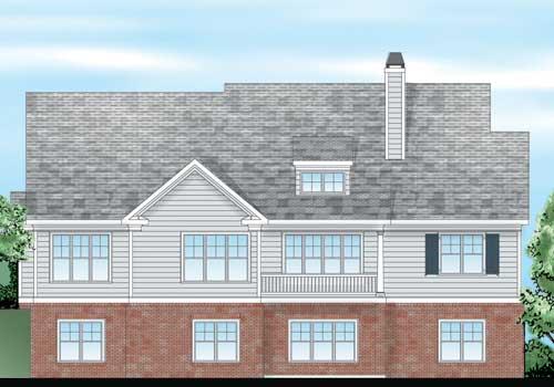Brandywine House Plan Rear Elevation