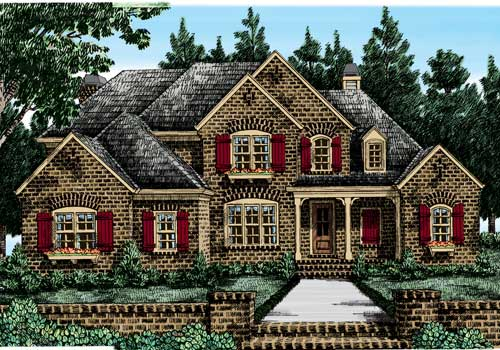 Canton Chase House Plan Elevation