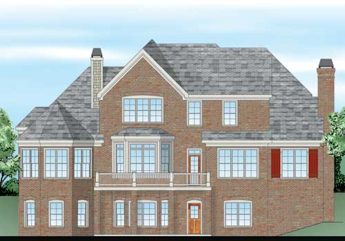 Canton Chase House Plan Rear Elevation