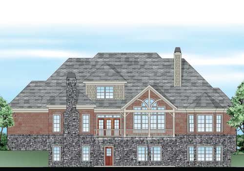 Eastminister House Plan Rear Elevation