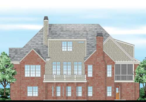 Eddings House Plan Rear Elevation