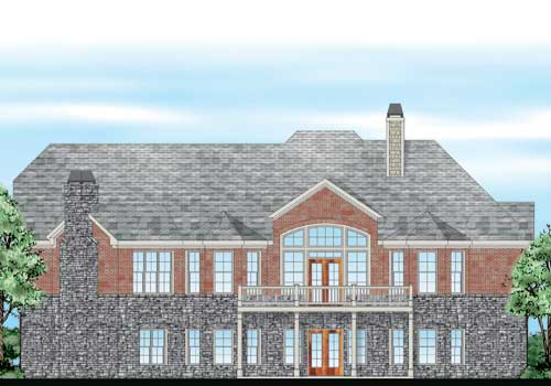 Glen Abbey House Plan Rear Elevation