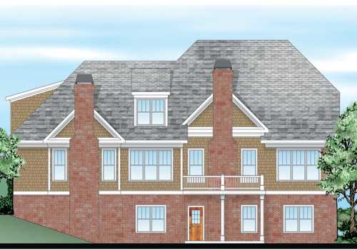 Lillian Ridge House Plan Rear Elevation