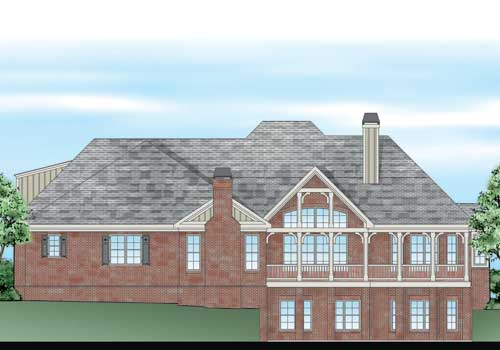 Orleans House Plan Rear Elevation