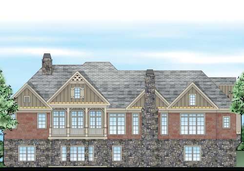 Saint Denis House Plan Rear Elevation