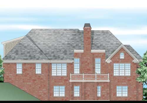 Sentinel House Plan Rear Elevation