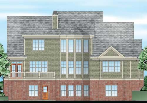 Sibley Park House Plan Rear Elevation