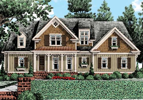 Highland Place House Plan Elevation