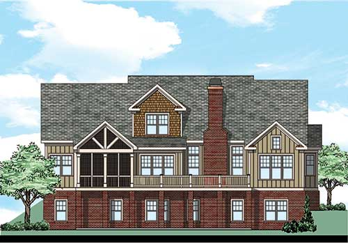Highland Place House Plan Rear Elevation