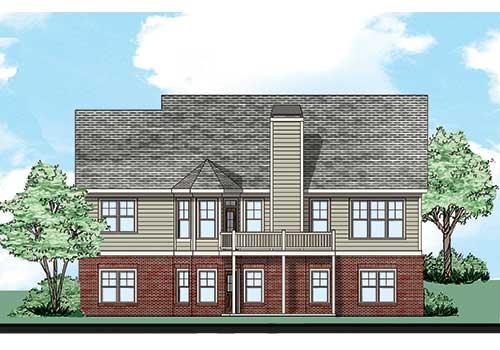 Summergrove House Plan Rear Elevation