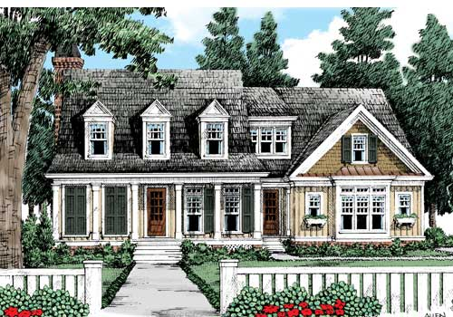 Azalea Farm House Plan Elevation