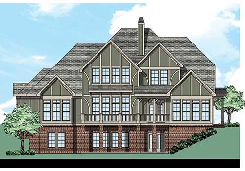 Ashton Place House Plan Rear Elevation
