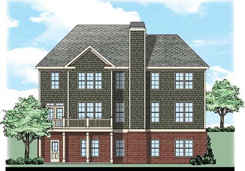 Arbor Place House Plan Rear Elevation
