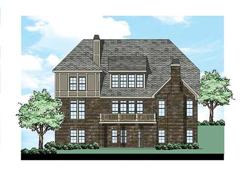 Avonlea House Plan Rear Elevation