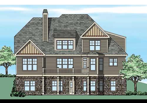 Castleberry House Plan Rear Elevation