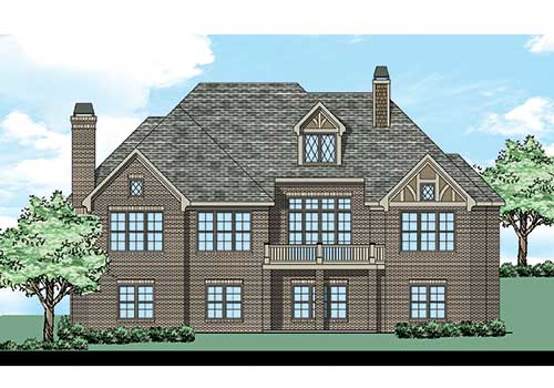 Glen Ayre House Plan Rear Elevation