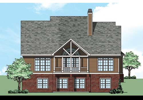 Kensington Creek House Plan Rear Elevation